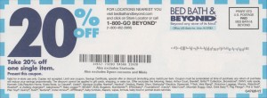 The 20% off bed bath and beyond printable coupon