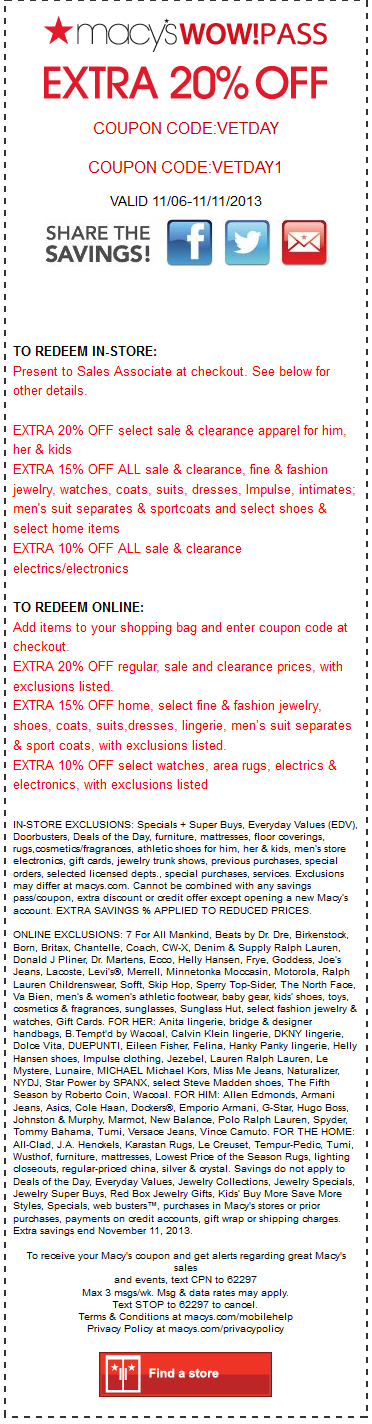 Macy's 50 off 200 coupon code